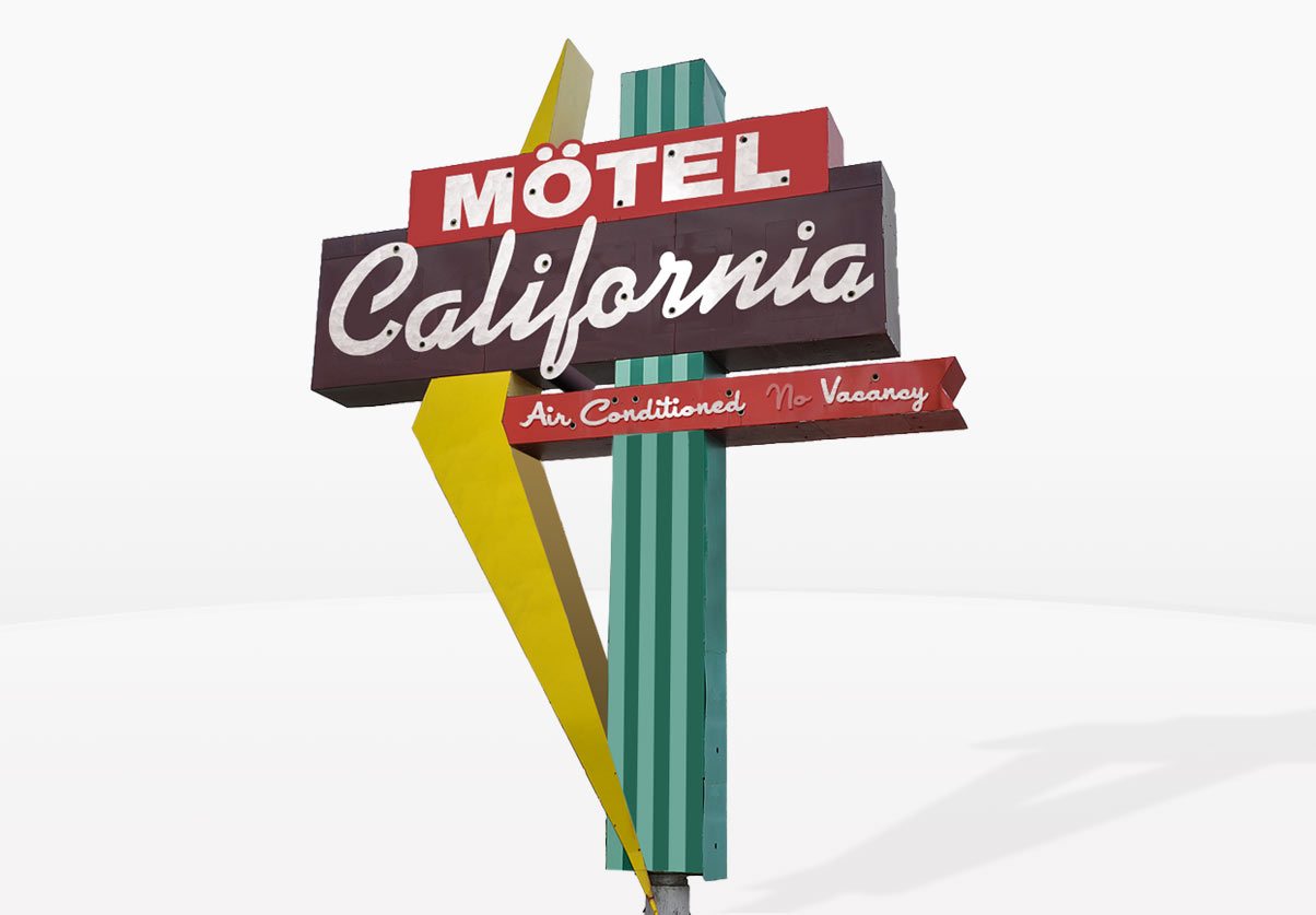 DepartmentD.com - Motel California Sign