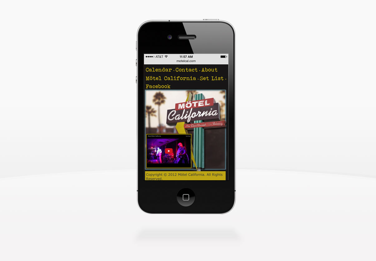 DepartmentD.com - Motel California Responsive iPhone