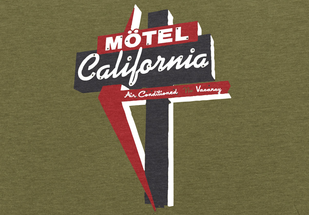 DepartmentD.com - Motel California tee design
