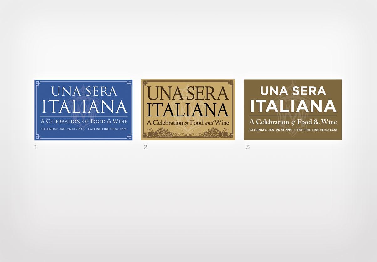 DepartmentD.com - Una Sera Italiana Logo Variations