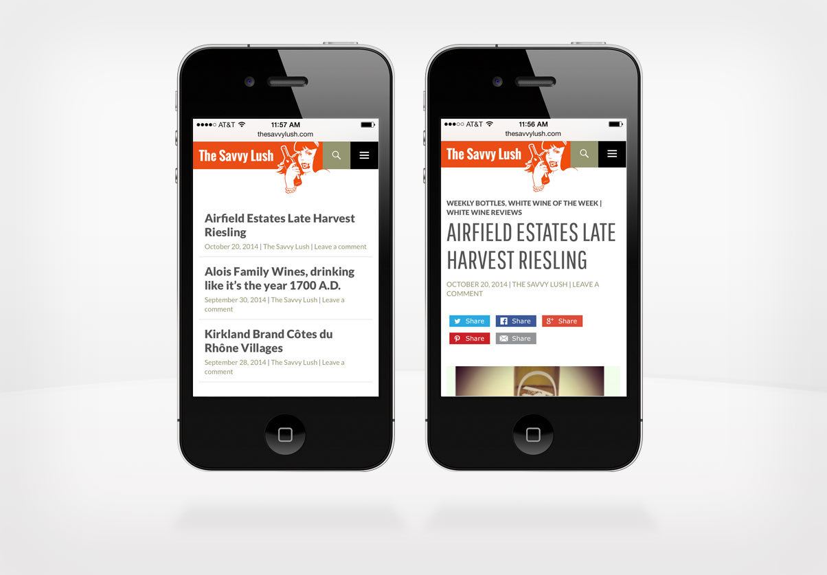 DepartmentD.com - The Savvy Lush responsive iPhone