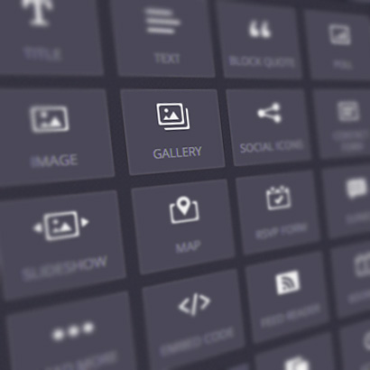DepartmentD.com - website builder drag and drop icons
