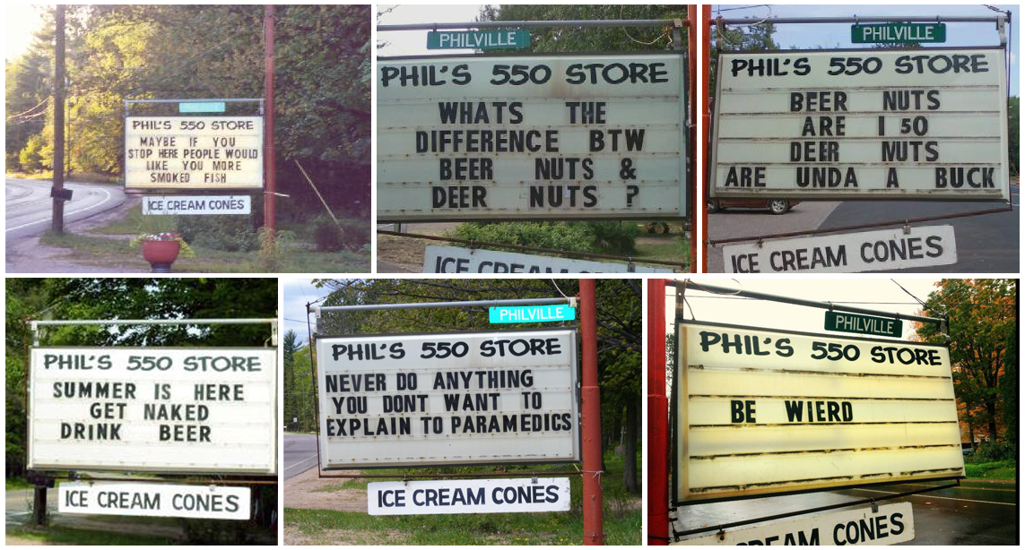 DepartmentD.com - Phil's 550 Sign